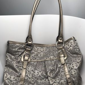 Gianni Bernini purse Gray color great condition